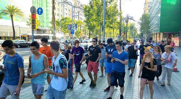 Фанаты игры Pokemón Go встретились и побежали