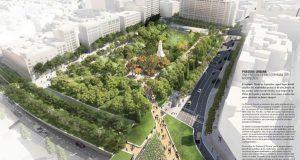 Конкурс проектов реконструкции площади Испании продолжается. Отобрано пять лучших проектов