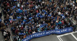 Тысячи барселонцев поддержали беженцев