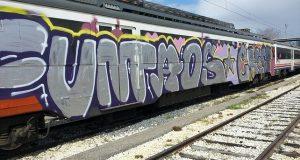 Граффити причиняет убытки железнодорожникам