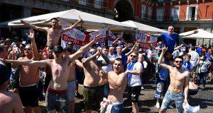 Мадридская полиция успокоила английских футбольных фанатов