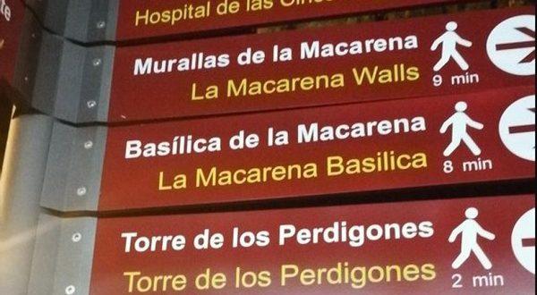 На указателях в Севилье блогеры увидели трудности перевода