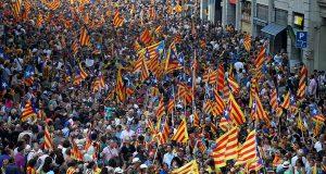 В Барселоне прошла манифестация в поддержку референдума