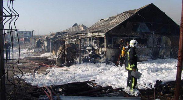 Пожар на промышленном полигоне стал причиной выброса токсичных веществ