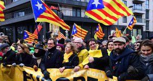В Брюсселе прошла акция в поддержку независимости Каталонии