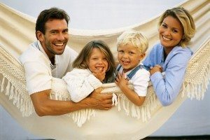 Family Together in Hammock