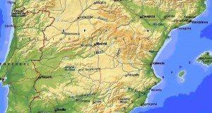 географическая карта испании
