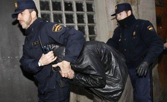 арест в испании