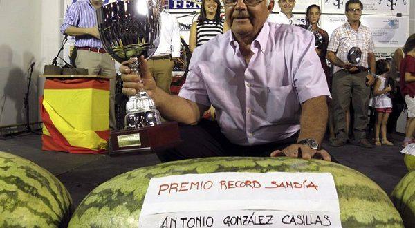 В Бадахосе вырастили арбуз-чемпион