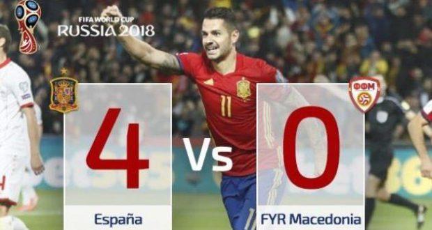 Испания уверенно разбирается с Македонией