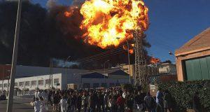 На химзаводе в Валенсии прогремел взрыв