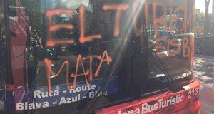 Туристический автобус в Барселоне разгромлен «туристофобами»