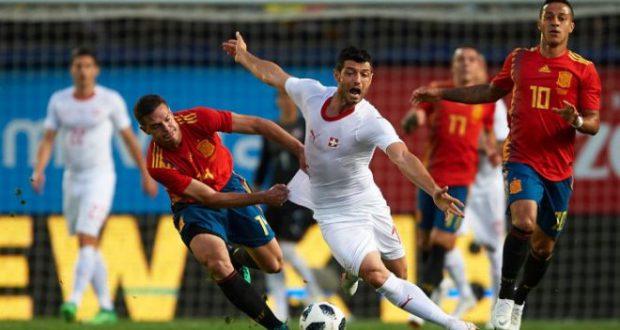 Испания провела контрольный поединок со Швейцарией