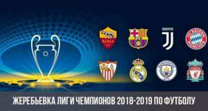 Жеребьевка Лиги Чемпионов УЕФА 2018-2019