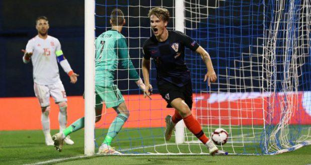 Испания уступает Хорватии